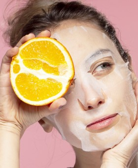 By Wishtrend Natural Vitamin 21.5 Enhancing Sheet Mask - Masque en tissu à la vitamine C